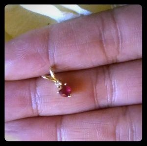 TODAY ONLY** Heart-shaped Ruby & Diamond Pendant